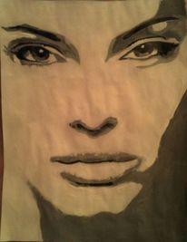 Acrylmalerei, Malerei, Menschen, Blick