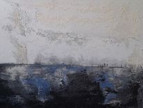 Kalt, Acrylmalerei, Am see, Winter