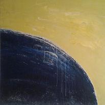 Blau, Gelb, Malerei, Rund