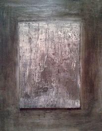 Holz, Spachtel, Dunkel, Malerei