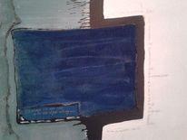 Ungleichgewicht, Grün, Blau, Malerei