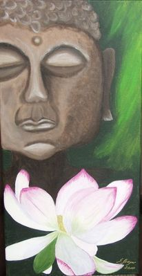 Buddha lotusblüte, Malerei, Buddha