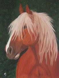 Ölmalerei, Tiere pferd kaltblut, Malerei