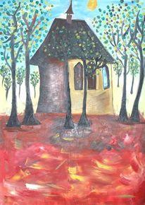 Gemälde surreal, Malerei, Kirche