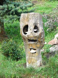 Holz skulptur, Malerei