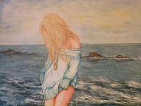 Aquarellmalerei, Menschen, Natur, Malerei