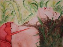 Malerei, Menschen, Aquarellmalerei, Figural
