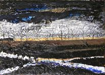 Malerei, Mischtechnik, Abstrakt, Informel
