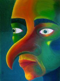 Regenbogen, Gesicht, Kopf, Portrait