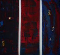 Rot, Modern, Treptichon, Blau