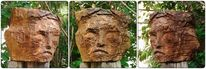 Skulptur, Kettensäge, Birnenholz, Plastik