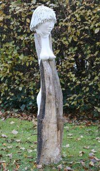 Holzskulptur, Skulptur, Pappelholz, Plastik