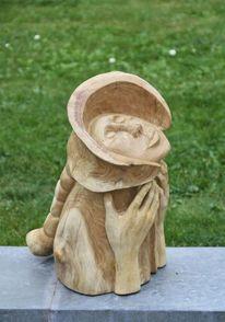 Robinie, Skulptur, Hoppegarten, Erbarmen