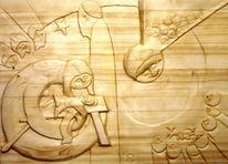 Kiefer, Frivoles, Relief, Skulptur
