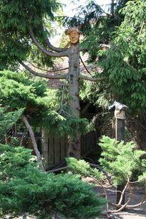 Fichte, Balken, Holzskulptur, Nussbaum