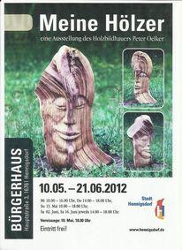 Ausstellung, Eintritt frei, Meine hölzer, Hennigsdorf