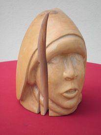 Skulptur, Holzskulptur, Esche, Plastik