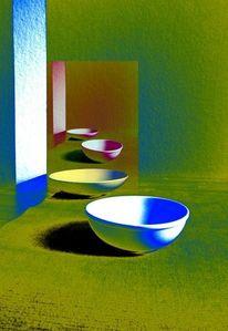 Stillleben, Farben, Experimentell, Schale