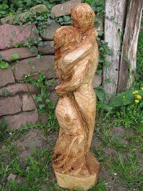 Tanzpaar, Kettensägenkunst, Skulptur, Holzfigur