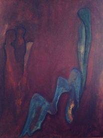 Blau, Frau, Persönlichkeit, Düster