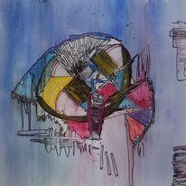 3d, Kreide, Abstrakt, Pastellmalerei