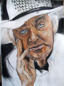 Anzug, Hut, Augen, Portrait