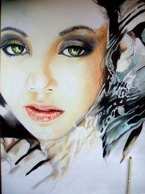 Blick, Portrait, Wasser, Augen
