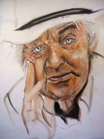 Portrait, Blick, Mann, Blaue augen