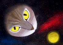 Katze, Planet, Universum, Stern