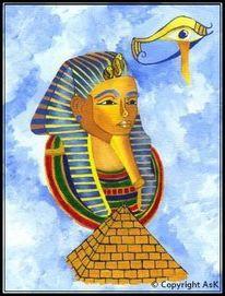 Pharao, Gold, Ägypten, Pyramide