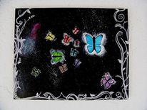 Weltall, Universum, Schmetterling, Bunt