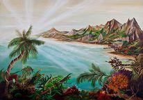 Paradies, Licht, Berge, Chamäleon