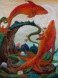 Malerei, Surreal, Fische