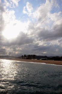 Strand, Wolken, Sonne, Urlaub
