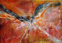 Fliegen, Acrylmalerei, Vogel, Freiheit