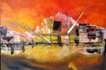 Acrylmalerei, Abstrakt, Malerei, Welt