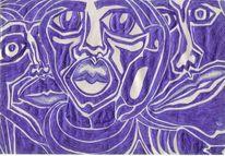 Augen, Blau, Gesicht, Kugelschreiber