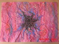 Zerfall, Schwarz, Acryl farbe, Bunt