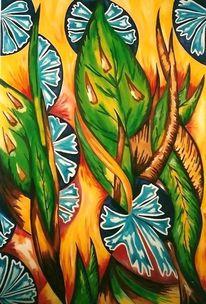 Farben, Ölmalerei, Abstrakt, Hartfaser