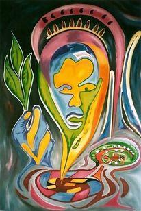 Ölmalerei, Volk, Hartfaser, Geist