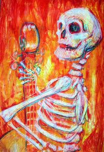Musik, Tod, Feuer, Skelett