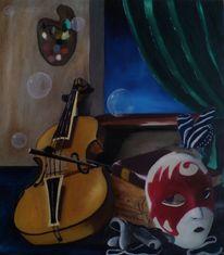 Maske, Musik, Stillleben, Mhentsch