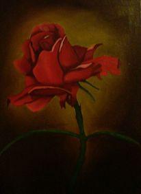 Stillleben, Rose, Malerei, Landschaft