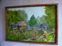 Mhentsch, Natur, Ölmalerei, Slawen
