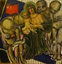 Acrylmalerei, Menschen, Heilig, Abstrakt