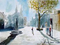 Menschen, Kirche, Altstadt, Straße