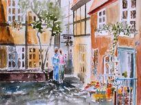 Spielzeugladen, Haus, Altstadt, Stabpuppe