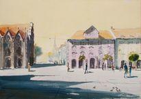 Altstadt, Gebäude, Markt, Menschen