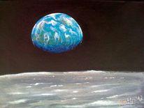 Taschenkunst, Raumfahrt, Mond, Erde