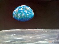 Mond, Erde, Mondlandschaft, Universum